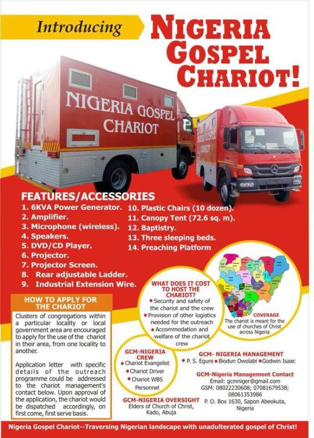 NIGERIAN CHARIOT